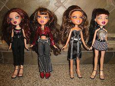 "Bratz Girls - ""D"" Lot of 4 - Dressed Girl Dolls Clothes/Outfits/Shoes Girl Doll Clothes, Girl Dolls, Fashion Styles, Women's Fashion, Bratz Girls, Bratz Doll, Silver Jewelry, Girls Dresses, Wonder Woman"