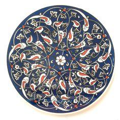 Navy Ceramic Trivet Iznik design