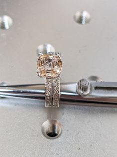 #Pink #Morganite #14k #Rose #Gold #Natural #Diamond #Engagement | Etsy #morganite #ring #set #yellow #gold #ring #white #gold #ring #morganite #ring #band #10k #14k #morganite #cushion #morganite #silver #morganite #morganite #ring #stack #morganite #set #morganite #bridal #set #bridal #set #morganite #rose #gold #morganite #wedding #ring #set Morganite Engagement, Engagement Wedding Ring Sets, Morganite Ring, Wedding Rings, Unique Anniversary Gifts, Vintage Diamond, Natural Diamonds, White Gold, Gold Ring