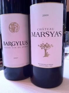 War wines: Bargylus and Marsyas