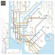 Hang this beautiful poster on your wall. Click on the picture to buy. #square New York City #subway #map by Jug Cerovic #poster [affiliate-link]