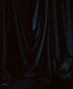 dark moody interiors black velvet curtains
