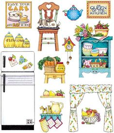 Miniature Printables - Kitchen Accessories.                                           종이인형 (집꾸미기) : 네이버 블로그 Küche                                                                                                                                                                                 More