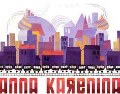 Book cover redesign for Anna Karenina.