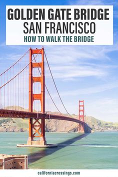See the iconic Golden Gate Bridge in San Francisco up close. Walking the bridge is one of the most fun things to do in San Francisco. Plan your day with this walking guide with practical San Francisco travel tips and 4 route options. Plan your San Francisco California vacation.
