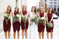 2015 New Bridesmaid Dresses With Halter Sleeveless Burgundy Summer Beach Wedding Inspiration Bridesmaids Dress Zipper Back To Party Gowns Online with $72.26/Piece on Beautiful_wedding's Store | DHgate.com#DhgatePin