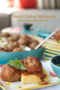 Baked Turkey Meatballs | reluctantentertainer.com
