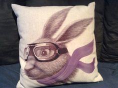 A cute rabbit pillow!