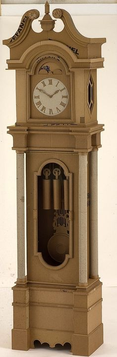 Cardboard Grandfather's Clock by Chris Gilmour