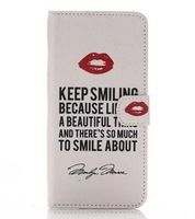 High Quality Leather Case for Sony Xperia Z3 keep smile Pattern Mobile Phone Case for Sony Xperia Z3 Phone Bag Back Cover