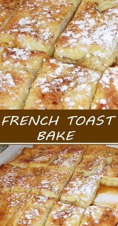 What's For Breakfast, Breakfast Items, Breakfast Dishes, Breakfast Recipes, Breakfast Casserole, French Toast Bake, Easy Baked French Toast, Easy French Toast Casserole, Overnight French Toast