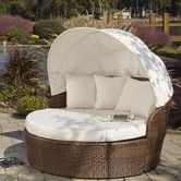 Panama Jack Key Biscayne Patio Daybed with Sunbrella Cushions Color: Davidson Wal Sofa Daybed, Daybed Canopy, Patio Daybed, Outdoor Daybed, Canopy Bedroom, Fabric Canopy, Canopy Tent, Sectional Sofa, Outdoor Furniture