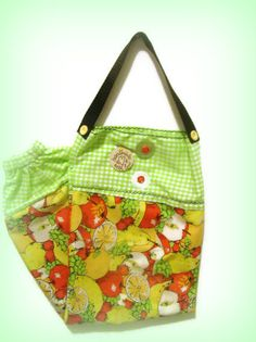 Fabric Plastic Bag Holder/ Grocery Bag Holder/ by bagsbyhags45, $9.75