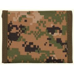 Digital Woodland Camouflage Nylon Wallet [Misc.] by OUTDOOR. $6.99