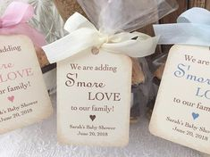 Baby S'more Favor Bags, Baby Shower S'more Favor Bags, Adding S'More Love Bags and Tags, Set of 10 Best Baby Shower Favors, Baby Shower Food For Girl, Tea Party Baby Shower, Baby Shower Winter, Baby Shower Cupcakes, Baby Shower Invitations For Boys, Baby Shower Themes, Baby Shower Decorations, Shower Ideas