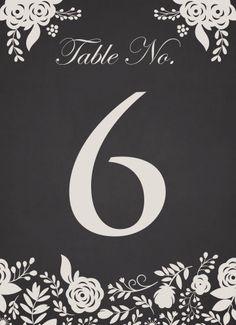 Elegant Flourish Table Numbers - Hoopla House