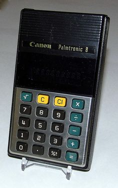 Vintage Canon Electronic LED Calculator, Model LD-84, AKA Palmtronic-8, Made in Japan.