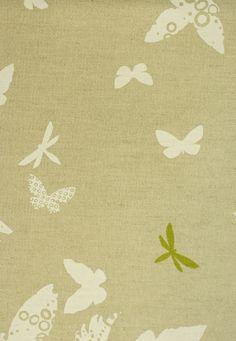 Birds & Butterflies Linen Union Fabric A neutral linen with a butterfly and bird print in green and white Curtain Fabric, Linen Fabric, Curtains, Contemporary Upholstery Fabric, Bird Prints, Windows And Doors, Butterflies, Neutral, Fabrics