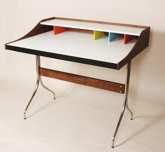 Swag Leg Desk in Walnut