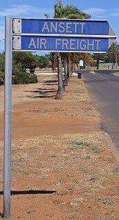 Ansett Air Freight Sign, Carnarvon Airport, Western Australia, 2010. Image via google