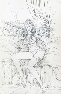 Warlord of Mars issue 100 risque cover **** Noah Salonga