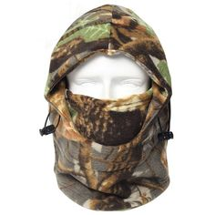 Winter outdoor windproof fleece bionic Camo Hunting Hat caps (Brown)