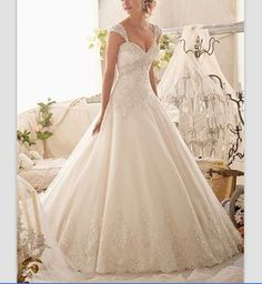 2014 New White/Ivory Sweetheart/ Removable Cap Sleeve A-line Bride Gown Applique Wedding Dress Bride TuTu Wedding dresses on Etsy, $194.68 AUD