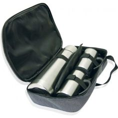Twin Mug Thermo Sets are double walled large coffee mugs teamed up with 750 ml sturdy stainless steel vacuum flask all zipped in a black nylon bag. Personalised Drink Bottles, Personalized Gifts, Large Coffee Mugs, Vacuum Flask, Brand Promotion, Branded Gifts, Nylon Bag, Sales And Marketing, Print Logo