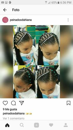 Natural Hairstyles For Kids, Little Girl Hairstyles, Cute Hairstyles, Natural Hair Styles, Long Hair Styles, Girl Hair Dos, My Hair, Stich Braids, Beautiful Braids