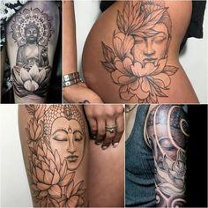 Buddha and Lotus Tattoo - Lotus Tattoo Meaning - Lotus Tattoo Ideas - Lotus Tattoo Designs Lotus Flower Tattoo Meaning, Small Lotus Tattoo, Lotus Mandala Tattoo, Lotus Flower Tattoo Design, Flower Tattoo Meanings, Tattoo Designs And Meanings, Tattoos With Meaning, Lotus Meaning, Buddha Lotus Tattoo
