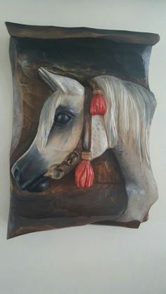 carving wood Arabian horse / rzeźba konia Arabskiego