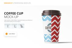 Paper Coffee Cup Mock-up by WebAndCat on Creative Market
