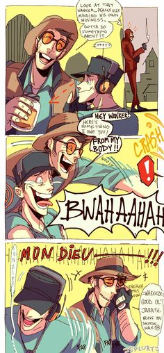 Tf2 Funny, Haha Funny, Team Fortress 2, Tf2 Meme, Tf2 Sniper, Tf2 Scout, All Team, Laugh A Lot, Gaming Memes