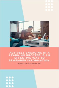 With today's influx of information, we tend to get forgetful. So how do we combat this? By actively engaging in different learnig processes, we can effectively exercise our mind and be able to remember information. For more