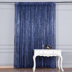 Sequin Curtains, Sequin Backdrop, Blue Birthday, 15th Birthday, Birthday Ideas, Wedding Walkway, Folding Chair Covers, Denim Party, Denim And Diamonds