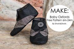 DIY Baby Oxfords - FREE Sewing Pattern / Tutorial