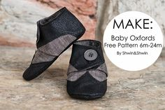 Baby oxfords free sewing pattern by shwin and shwin