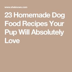 23 Homemade Dog Food Recipes Your Pup Will Absolutely Love