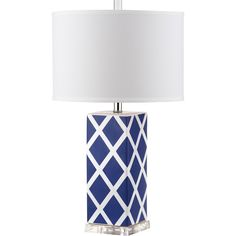 Forever plaid takes on new meaning with the Garden Lattice table lamp by Safavieh.