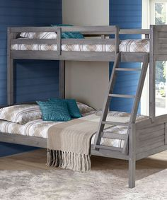 Gray Louver Full Bunk Bed