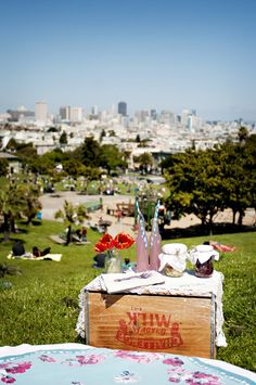 One of my favorite things to do: a picnic + people watching in Dolores Park. #wanderingsole