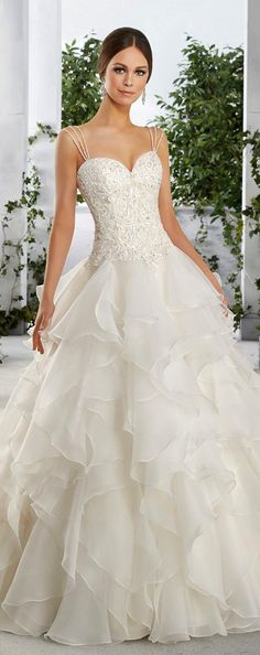 Eye-catching Tulle & Satin Sweetheart Neckline A-Line Wedding Dresses With Embroidery & Beadings