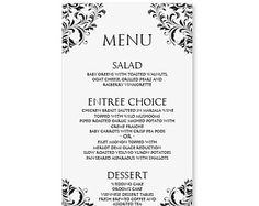Menu Templates Free Download Word | http://webdesign14.com/