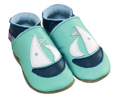 STARCHILD - Kožené topánočky - Yacht Aqua - veľkosť M (6-12 mesiacov) - Market24.sk