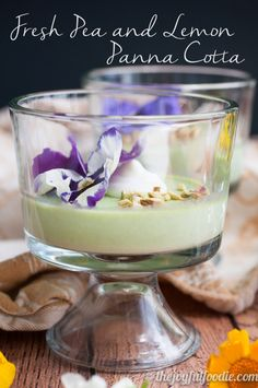 Fresh peas and lemon make this savory panna cotta a creamy bit of Spring in every spoonful.