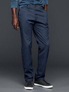 GAP Lived-in Slim Khaki Navy Blue 29*32 36*32 243639 Cotton $59.95 #GAP #KhakisChinos