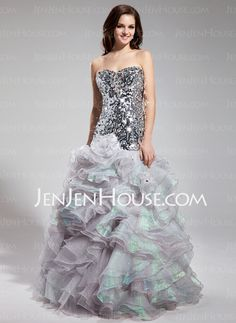 Prom Dresses - $172.99 - Mermaid Sweetheart Floor-Length Organza Sequined Prom Dress With Beading (018018898) http://jenjenhouse.com/Mermaid-Sweetheart-Floor-Length-Organza-Sequined-Prom-Dress-With-Beading-018018898-g18898