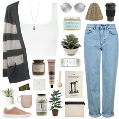 hii by ruthaudreyk on Polyvore featuring VPL, Topshop, rag & bone, The Founder, Dogeared, Linda Farrow, Dr. Jackson's, Herbivore, Aesop and Olivina