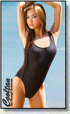 a4f0eb0f854bb No Tan line Bathing Suits - Solid Black one piece Tank Top Suit Get an  all-over tan with this Bathing suit! no tan line bathing suit