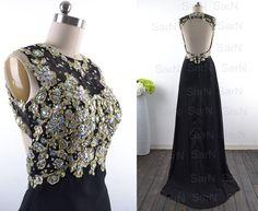 Black Prom Dresses Custom Long Black Lace and von SarNDresses